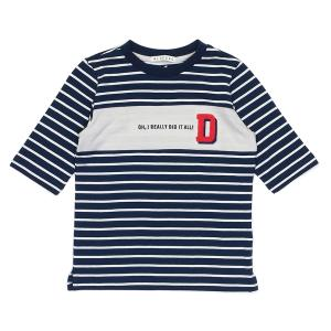컬러블럭7부티셔츠