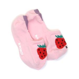 딸기 포인트 덧신